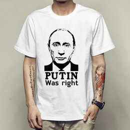 $enCountryForm.capitalKeyWord NZ - Putin was right t shirt Strong power short sleeve gown Outdoor tees Unisex clothing Quality modal Tshirt