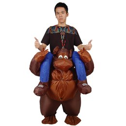 inflatable adults halloween costumes UK - Inflated Garment Adult Cosplay Orangutan walks with people Costume Kids Inflatable Costume Christmas Gift Festival Party Dress Halloween cos