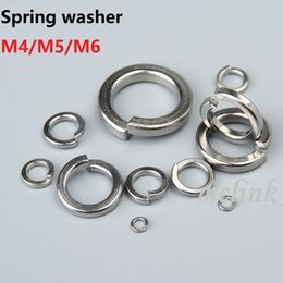 $enCountryForm.capitalKeyWord NZ - M4 M5 M6 Spring washer Stainless steel Metal gasket Washer Ring Single coil spring lock washers Free shipping Wholesale