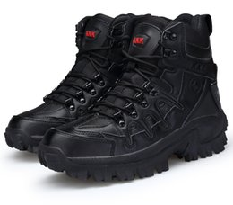 Discount army combat boots men - Factory direct outdoor high boots wear-resistant shock-absorbing combat boots Army special tactical man boots free shopp