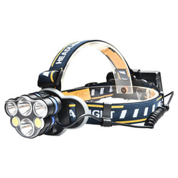 6*LED T6 COB Headlamp USB Rechargeable 18650 Battery Headlight Head Torch with Charger Gift car Waterproof Super Bright for Fishing Camping on Sale
