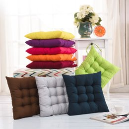 Green Office Chairs NZ - Soft Comfortable Seat Cushion Winter Spring Home Office Bar Chair Cotton Cushions Home Decor Square Cushion Chair Cushion