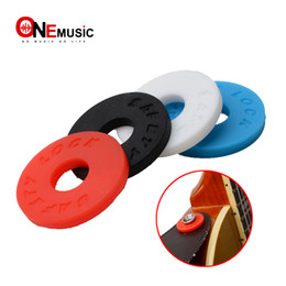 China Guitar Strap Block Rubber Safety Lock Washer Acoustic Electric Guitar Bass Ukulele Accessories cheap straps lock suppliers