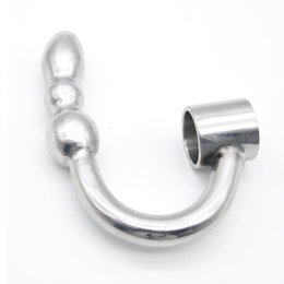 $enCountryForm.capitalKeyWord UK - BDSM Stainless Steel Heavy Anal Plug Butt Insertion Plugs Anus Sex Toys With Penis Ring Chastity Device For Him XCXA348
