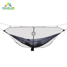 Chinese  Outdoor Mosquito Net Parachute Hammock For Camping Travel 1-2 Person Hanging Bed Chair Enjoydeal Portable High Strength Hammock manufacturers