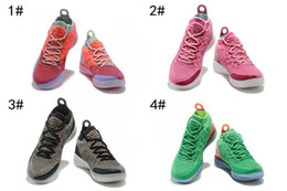 best sneakers 771ac 29083 2018 new Zoom KD 11 EP XI EYBL Peach Jam Hot Punch Kevin Durant Men  basketball shoes kds 11s Multi-Color Persian Violet mens sports sneakers