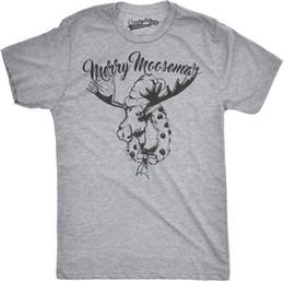 7660e902 Funny Christmas T Shirts Canada - Details zu Mens Merry Moosemas Funny  Outdoors Moose Christmas Holiday