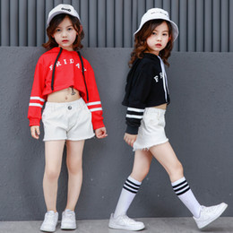 $enCountryForm.capitalKeyWord Australia - Girls Boys Loose Ballroom Jazz Hip Hop Dance Competition Costume Hoodie Shirt Tops Shorts for Kids Dancing Clothing Clothes Wear