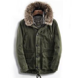russian parka 2019 - Russian Style Men's Winter Warm Fur Trim Hooded Parka Coat discount russian parka