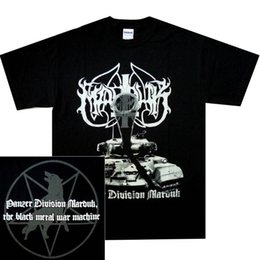 cheap shirts for sale NZ - Marduk Panzer Division Official Shirt S-3XL Black Metal T-Shirt New Cheap Sale 100 % Cotton T Shirts for Boys