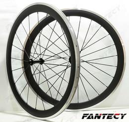 Carbon Clinchers Alloy Australia - 700C alloy brake surface carbon wheels 50mm depth road bike wheelset 23mm width Clincher alloy rim 3k matte finish U- shaep rim