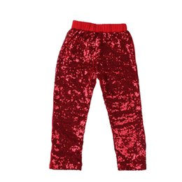 Glitter Bling Baby Australia - Hot Sale Baby Girls Sequins Long Pants Casual Pants Fashion Infant Glitter Bling Dance Boutique Bow Princess Trousers Kids Clothes 11 colors