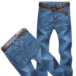 $enCountryForm.capitalKeyWord UK - Free shipping Big Size 48 50 52 Summer Casual Mens Thin Jeans Male Denim Pants Overalls Baggy Men Blue Classic Jean Trousers