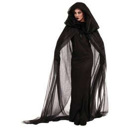 Discount devils women costumes - Halloween Adult Women Scary Ghosts Costumes Child Girl Witch Costume Devil Clothes Kid Suits with Cosplay Long Fancy Clo