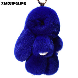 51a34dd266 XIAOJINGLING Trendy Trinket Key Chain Lovely Bunny Pendant Simulation  Rabbit Fur Keychains Play Dead Rabbit Bag Keychain Jewelry