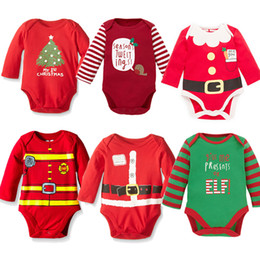 baby kids santa christmas clothing NZ - Christmas Romper Santa Claus Baby Rompers Kids Xmas Clothes Infant One-Piece Clothing Baby Christmas Rompers Newborn Baby Romper