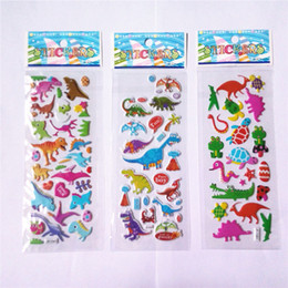 Pvc Puffy Stickers Australia - 20pcs lot cute 3D Cartoon Dinosaur stickers diary PVC puffy reward kids lot kawaii educational bubble stickers for children