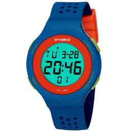 #5001synoke Multi-function 30m Waterproof Watch Led Digital Double Action Watch Dropshipping New Arrival Freeshipping Hot Sales Children's Watches
