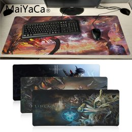 anime laptop 2019 - MaiYaCa High Quality lineage 2 Best Game Laptop Gaming Mice Mousepad Anime Cartoon Print Large Size Game Mouse Pad disco
