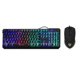 MotoSpeed K70L USB проводной игровой клавиатуры и мыши набор 7 цветов подсветкой клавиатуры мыши комбо