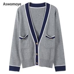 855973d5cae Падение моды онлайн-2018 осень новый стиль женщины свитера с длинным рукавом  Sexy V шеи