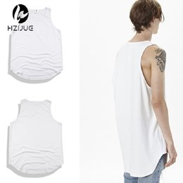 Discount justin bieber clothing style - Justin Bieber style men's vest coon tank top for men solid color men's tees high street fashion new male tops hip hop cl