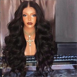 light hair 2019 - 180 Density Full Lace Wig With Baby Hair Body Wave Full Lace Human Hair Wigs For Black Women Malaysian Lace Front Wigs c