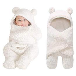 Outono e Inverno de 2018 Bebê Recém-nascido Meninas Meninos de Algodão Fofo Cobertor de Pelúcia Recebendo Dormir Envoltório Swaddle