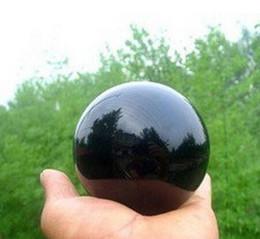 Large Ball Spheres Australia - Natural Black Ob sidian Sphere Large Crystal Ball Healing Stone