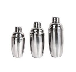 metal shake NZ - Wholesale 350ml 530ml 750ml stainless steel snow cup shaker bartender bar supplies shake cup free shipping
