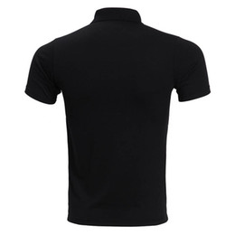 Wholesale mens black polos resale online – Brand Polo Shirt Men Fashion Short Sleeve Solid Color Pocket Polo Homme Casual Slim Fit Mens Polos White Black XL Drop Shipping