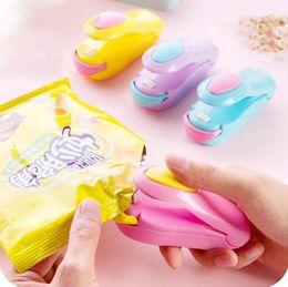 Magia lindo mini sellado térmico mashine impluse sellador sello de embalaje kit de bolsa de plástico herramientas envío gratis