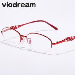 872f1c85f189 Viodream Ultra Light Pure Titanium Half Glasses Frame Myopia Prescription  Eyewear Eyeglass Frames Oculos De Grau Spectacle Frame half frame titanium  eyewear ...