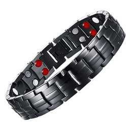 Discount mens care - LITTLE FROG Drop Shipping Mens 316L Stainless Steel Germanium Balance Energy Care Magnetic Power Health Bracelets Bangle
