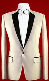best suit sales NZ - (Jacket+Pants+Tie) Beige Hot Sale Notch Lapel Groom Tuxedos Groomsmen Best Man Suit Mens Wedding Suits Bridegroom A A A
