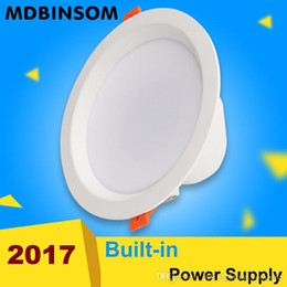 12w Power Supply NZ - 2017 LED down light 5W 7W 9W 12W 15W 18W IP44 Recessed Spot Wall Lamp White Built-in power supply For Indoor Lighting Kitchen Bathroom