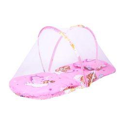 $enCountryForm.capitalKeyWord UK - 50PCS Portable Newborn Baby Bed cradle Crib Collapsible Mosquito Net Infant Cushion Mattress mobile bedding crib netting 92*48*40CM