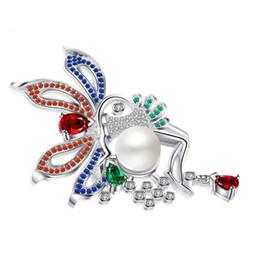 $enCountryForm.capitalKeyWord UK - Wholesale Handmade Diy Overcoat Findings Brooches Elegant Pearl Flower Brooch Pins Crystal Costume Clothes Accessories Jewelry Coat Fittings