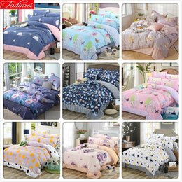full size kids beds Australia - NEW AB Side Duvet Cover 3 4 pcs Bedding Sets Adult Child Kids Soft Cotton Double Full King Queen Twin Single Big Size Bedspreads