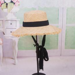 $enCountryForm.capitalKeyWord Australia - Fashion Summer Women Foldable Natural Raffia Sun Hat With Band Floppy Crunch Wide Large Brim Hats Beach Solid Cap UV Protection