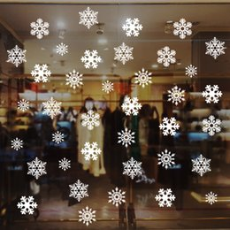 christmas window decals stickers 2019 - Christmas Sticker Snowflake Window Stickers For Glass Shopwindow Christmas Decals Gifts Festivals Decor For Party Free D