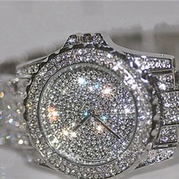 Bling glasses online shopping - New Luxury women watches bling bling rhinestone ceramic crystal Quartz watches Lady girl Dress high quality Watch relogios l12Y1883105