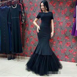 23069cab43 Modest elegant Maternity dress online shopping - Elegant Modest Black  Mermaid Evening Gowns Long Simple African