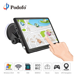 Gps Hd Australia - Podofo 7 inch HD Car GPS Navigation FM Win CE Capacitive screen 8GB Vehicle Truck GPS Car navigator automobile Map Free Upgrade