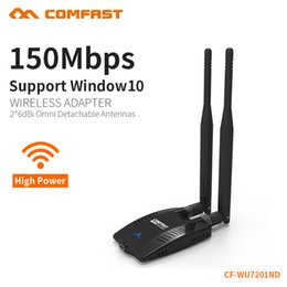 wifi signal adapters NZ - COMFAST wireless wi fi adapter high power signal network adapter 150Mbps transmission 2.4G dual antenna dongle wifi CF-WU7201ND