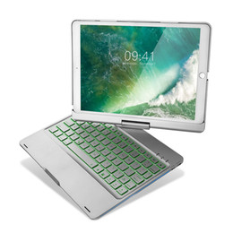Pad Pro 10.5 Keyboard Case with Bluetooth Keyboard 7 Color Backlit Dream Lighting 360 Degree Rotatable Case Cover for 2017 Pro on Sale