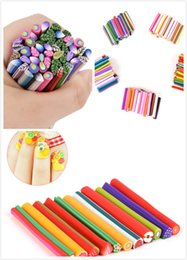 Wholesale 50 D Nail Art Fimo Canes Stick Rods Polymer Clay Stickers Nail Tips Rhinestone Decoration Accessories Beauty Tools