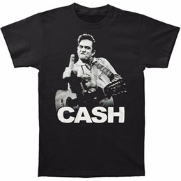 00469e085 Top Tees Custom Any Logo Size Fashion Men O-Neck Johnny Cash Flipping The  Bird Finger Adult T-Shirt Tee Short-Sleeve T Shirts
