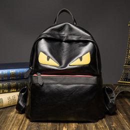 Famous travel bags online shopping - New Luxury Backpack Famous Designer Women Men Travel Backpack Casual Student School Bags Teenagers High Quality Moster Cute Shoulder Bags