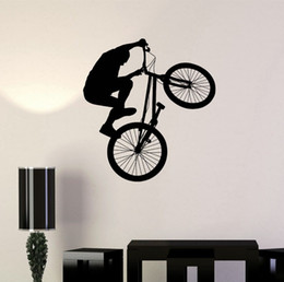 $enCountryForm.capitalKeyWord NZ - Bicycle Bike Cyclist BMX Sport Extreme Wall Decal Vinyl Sticker for living room home Wall decoration